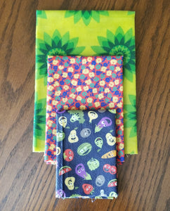 Beeswax Wraps - 3 Piece Set - Nose Deep Package - 1 S, 1 M, 1 L