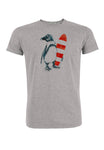 Greenbomb T-Shirt grau Penguin Surfer