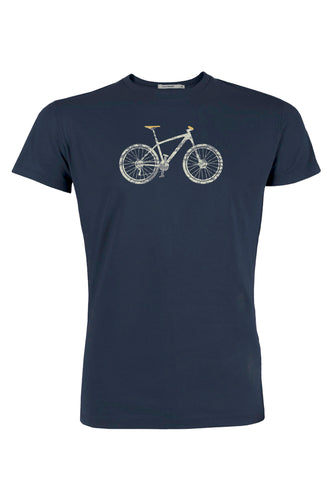 Greenbomb Herren Tshirt Bike Cross Navy