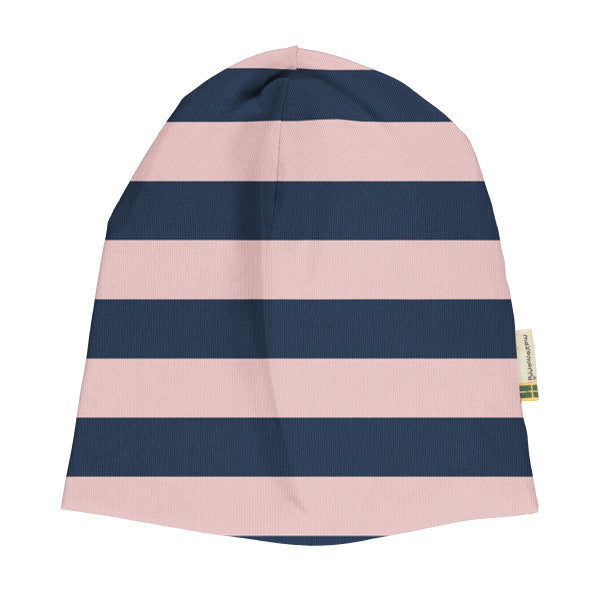 Maxomorra Mütze Stripe Pale Blush