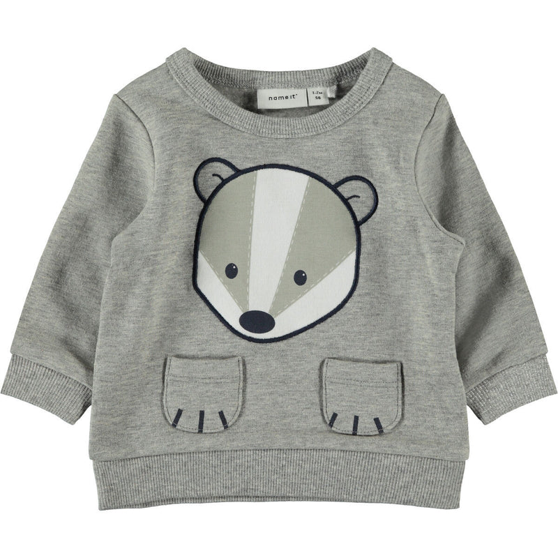 name it Sweater Dachs Grey Melange