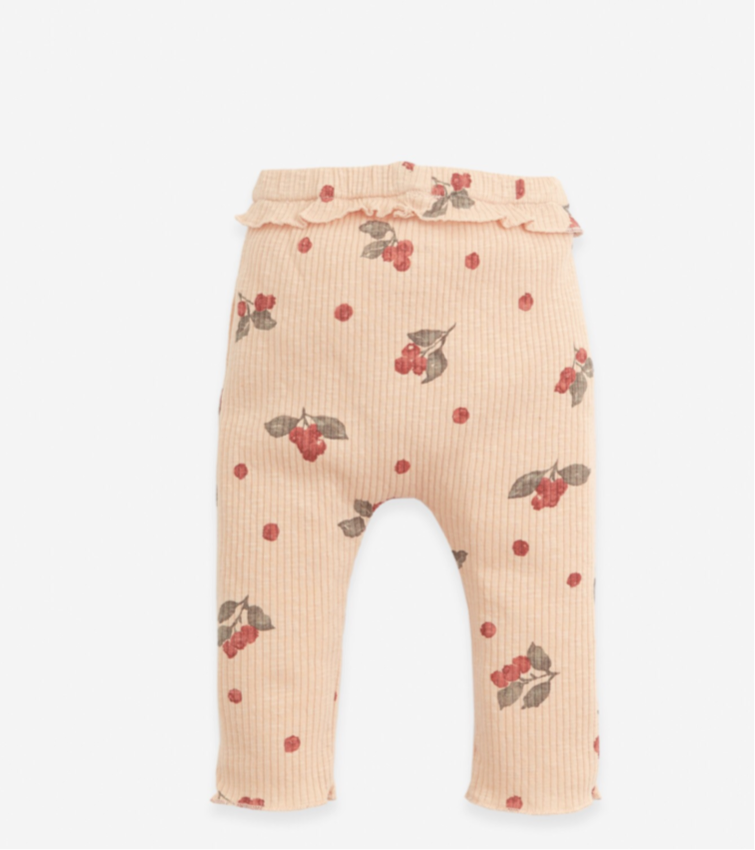 Play up gerippte Leggings mit Print