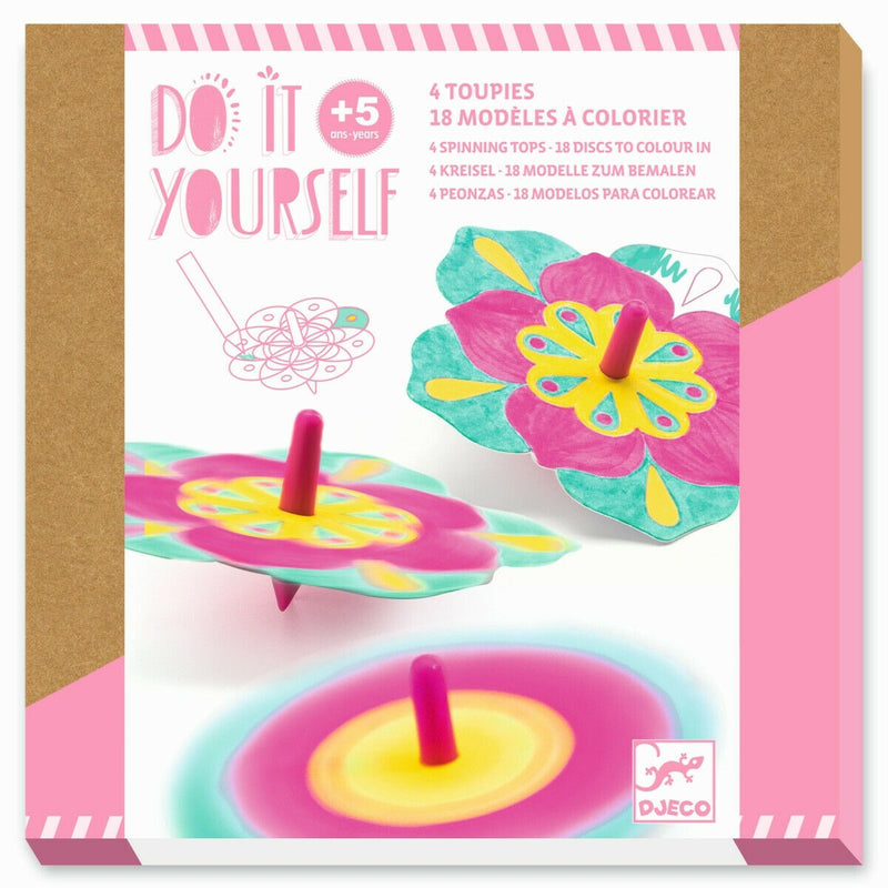 Djeco Do it yourself - Kreisel zum Bemalen Blumen