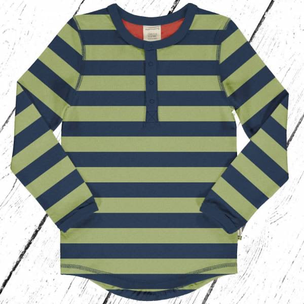Maxomorra Longsleeve Slim Button Stripe