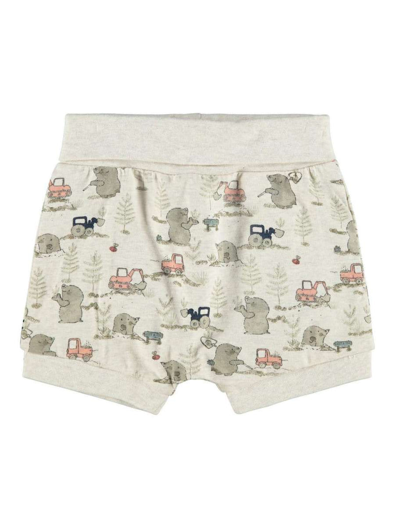 name it Babyshorts mit Maulwurf-Print