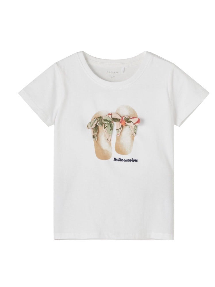 name it T-Shirt mit Flip-Flop Applikation