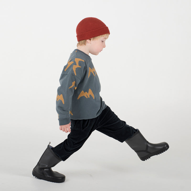 lötiekids Baby Sweatshirt Mountains Dark Grey