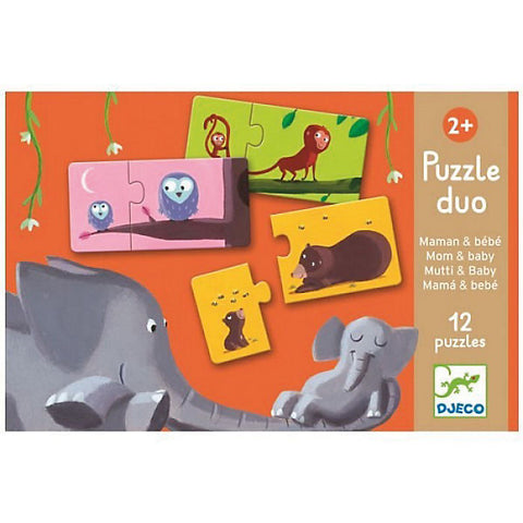Djeco Puzzle duo Mutti & Baby