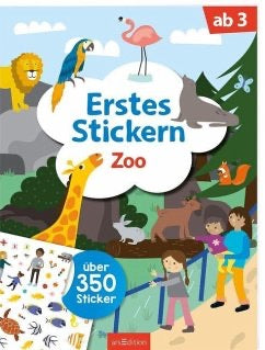 "arsEdition Erstes Stickern ""Zoo"""