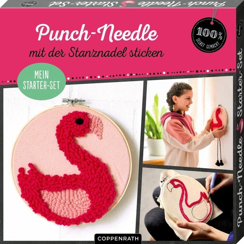"Die Spiegelburg Punch-Needle Starter-Set ""Flamingo"""