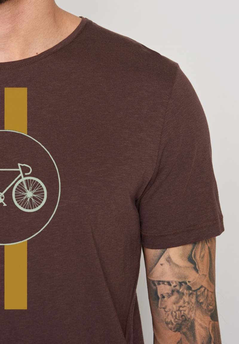 Greenbomb Herren Shirt Bike Highway Spice Dark Chocolate