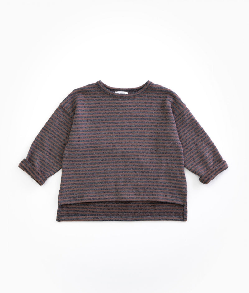 Play up Purplewood Pullover grau/rosa gestreift