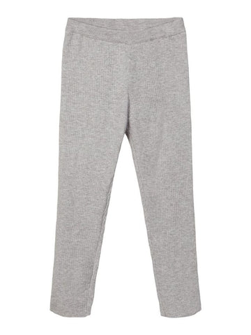 Lil' Atelier Rippstrick Leggings in Grau