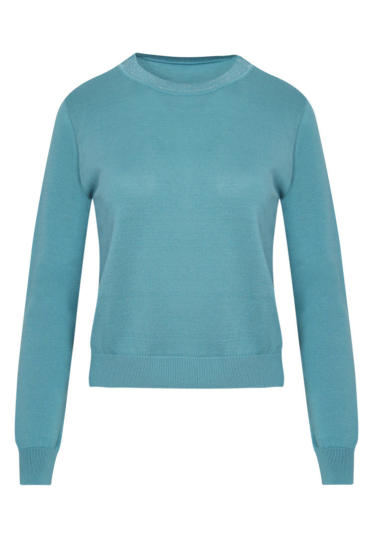 Greenbomb Damen Pullover Gracile Dirty Blue