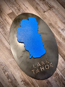 Lake Tahoe 3D Metal Sign