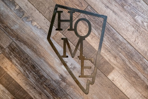 Nevada HOME Metal Sign
