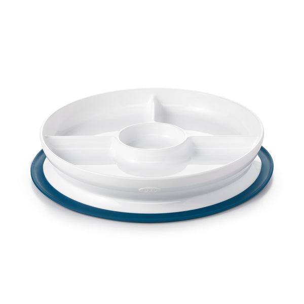 Oxo Tot Stick & Stay Divided Plate - Navy
