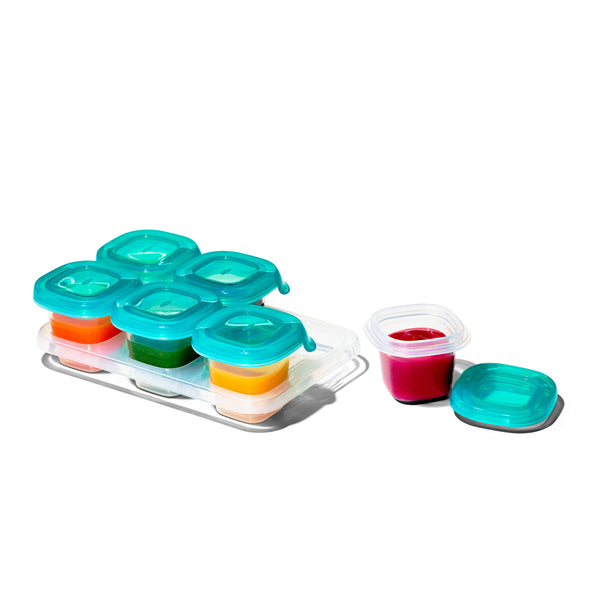 OXO TOT Silicone Baby Blocks 2oz - Teal