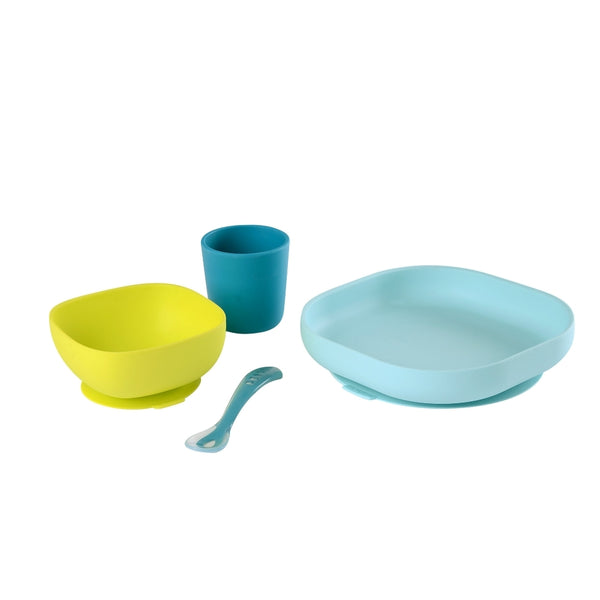 Beaba Silicone Suction Meal Set - Blue (4)