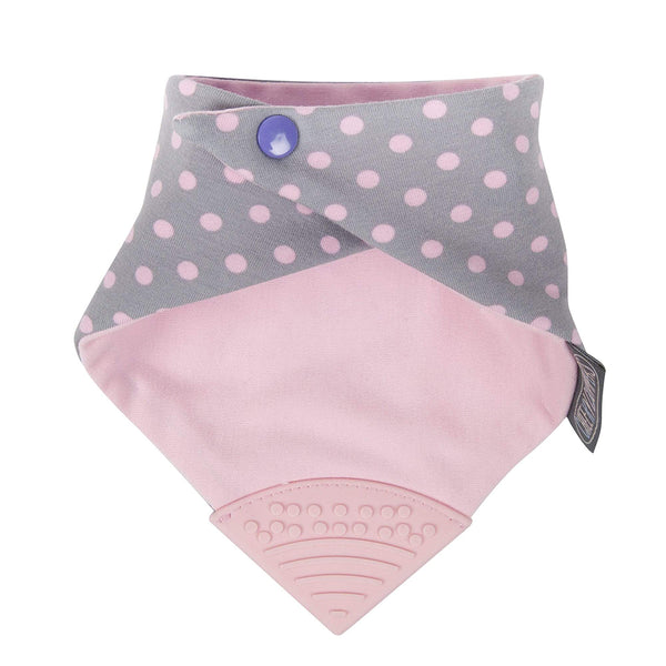 Cheeky Chompers Neckerchew - Polkadot Pink (1)