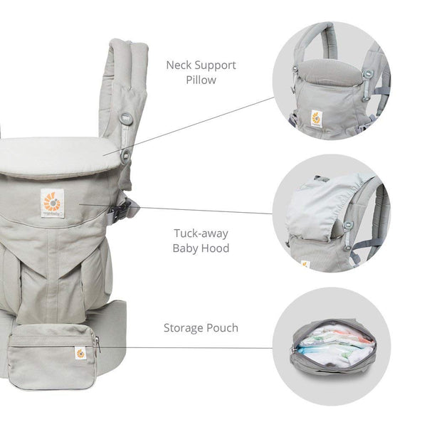 Ergobaby Omni 360 Cool Air Mesh Baby Carrier - Carbon Grey (5)