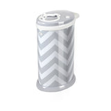 Ubbi Nappy Pail - Grey Chevron