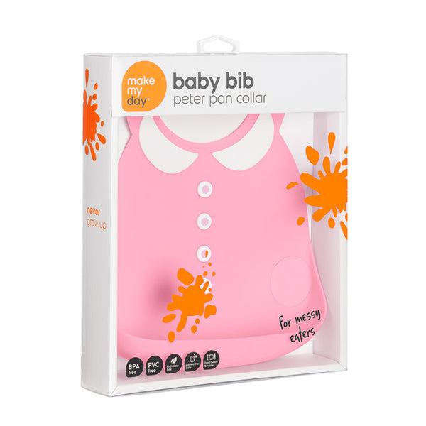 Make My Day Bib - Peter Pan Pink (2)