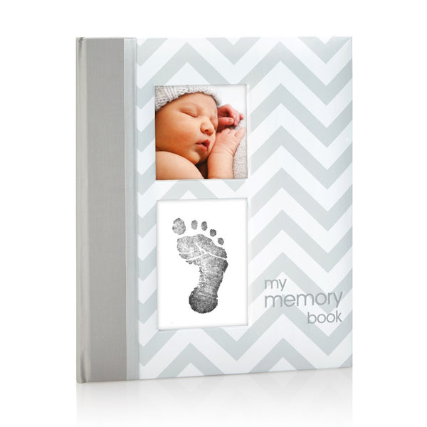 Pearhead Grey Chevron Baby Book Chevron