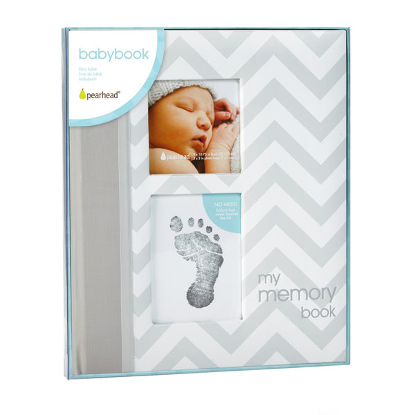Pearhead Grey Chevron Baby Book Chevron (2)