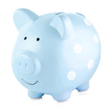 Pearhead Piggy Bank - Blue Polka