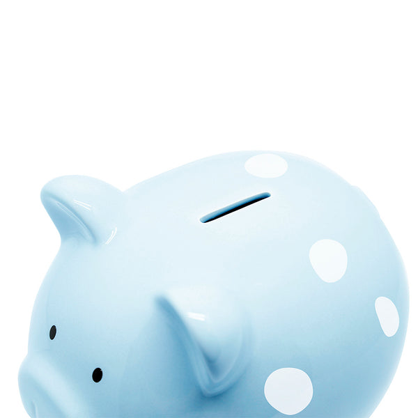 Pearhead Piggy Bank - Blue Polka (1)