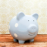 Pearhead Piggy Bank - Blue Polka (2)
