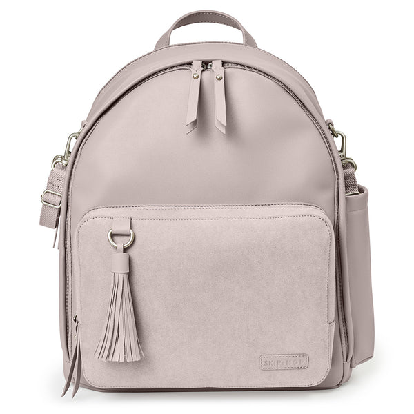 Skip Hop Greenwich Simply Chic Nappy Backpack - Portobello Suede