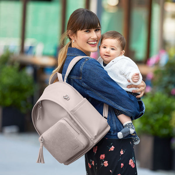 Skip Hop Greenwich Simply Chic Nappy Backpack - Portobello Suede (4)