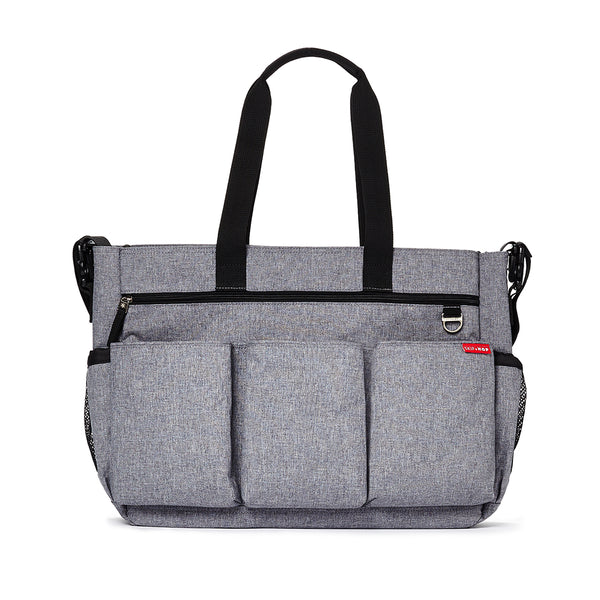 Skip Hop Duo Double Signature Nappy Bag - Heather Grey