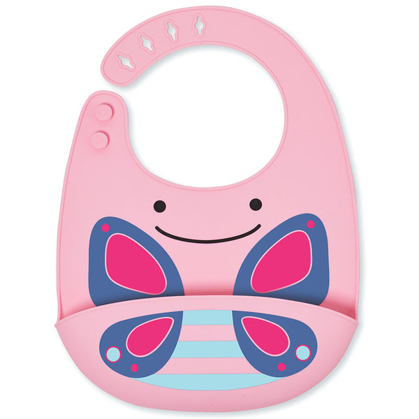 Skip Hop Zoo Blossom Butterfly Silicone Bib