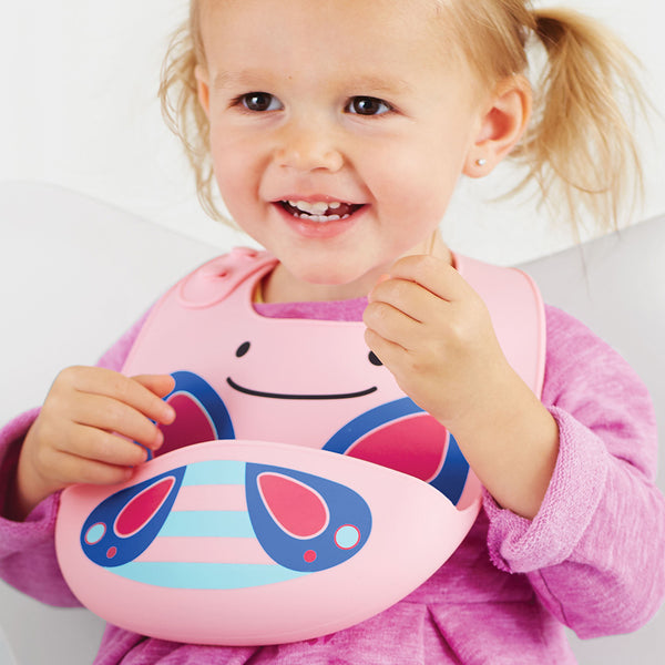 Skip Hop Zoo Blossom Butterfly Silicone Bib (2)