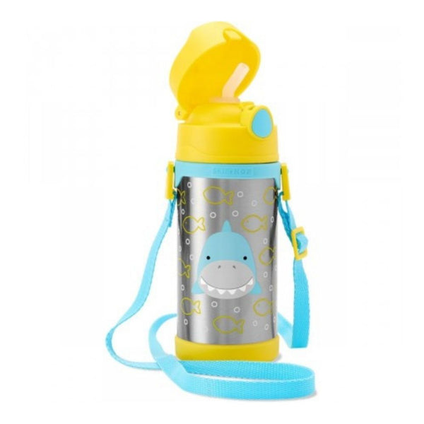 Skip Hop Zoo Simon Shark Stainless Steel Straw Bottle (1)