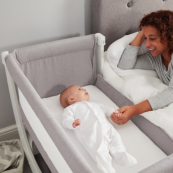 Shnuggle Air Bedside Crib - Stone Grey (4)