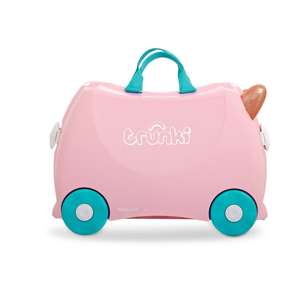 Trunki Ride-On Luggage - Flossi the Flamingo (1)