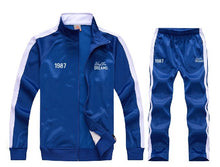 Load image into Gallery viewer, Hustler Dreams Tracksuit - Blue & White