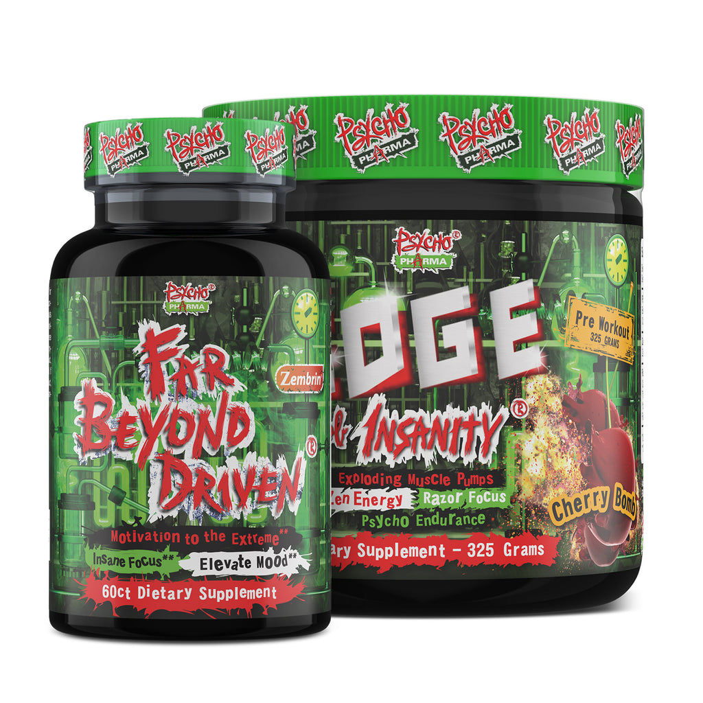 Psycho Pharma High Stim Stack:  Edge Of Insanity and Far Beyond Driven - www.psychopharma.com