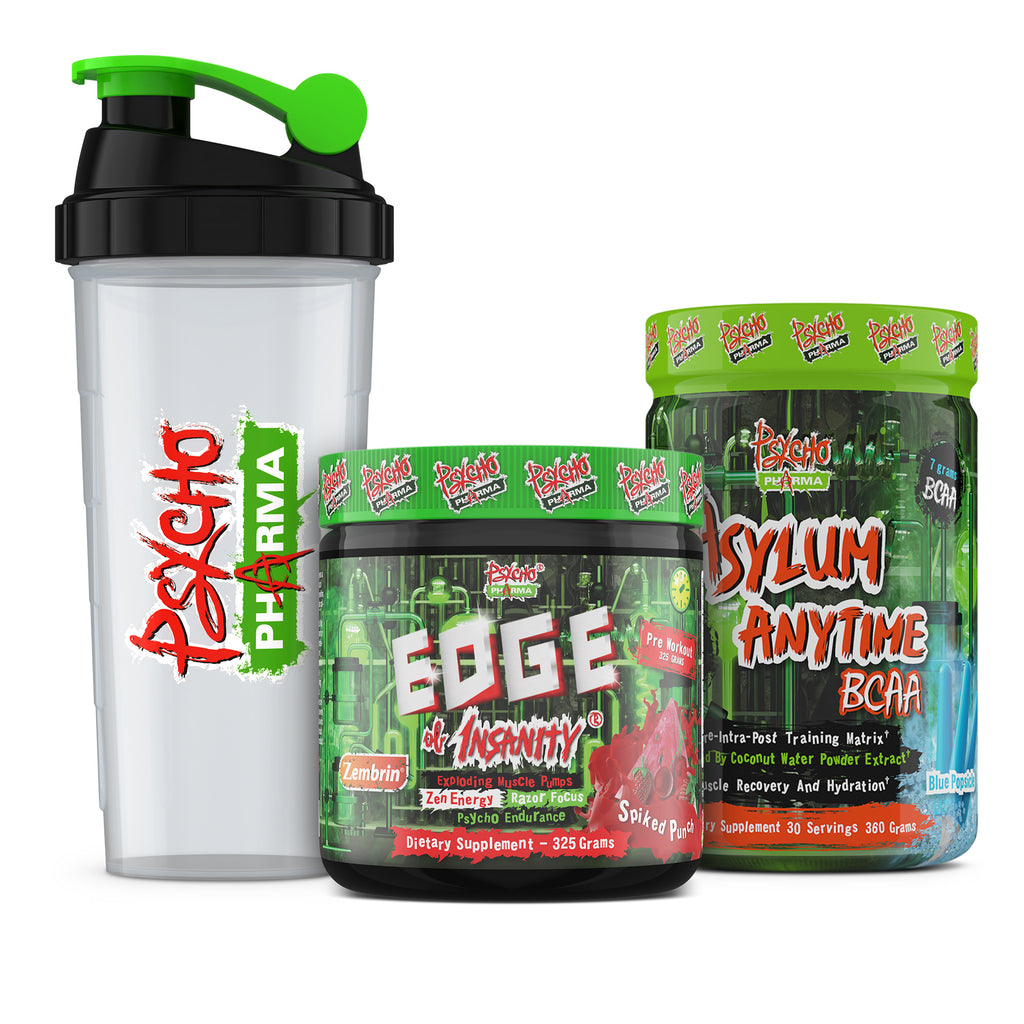 Psycho Pharma 30-Day Pack: Edge Of Insanity + Asylum Anytime BCAA - www.psychopharma.com