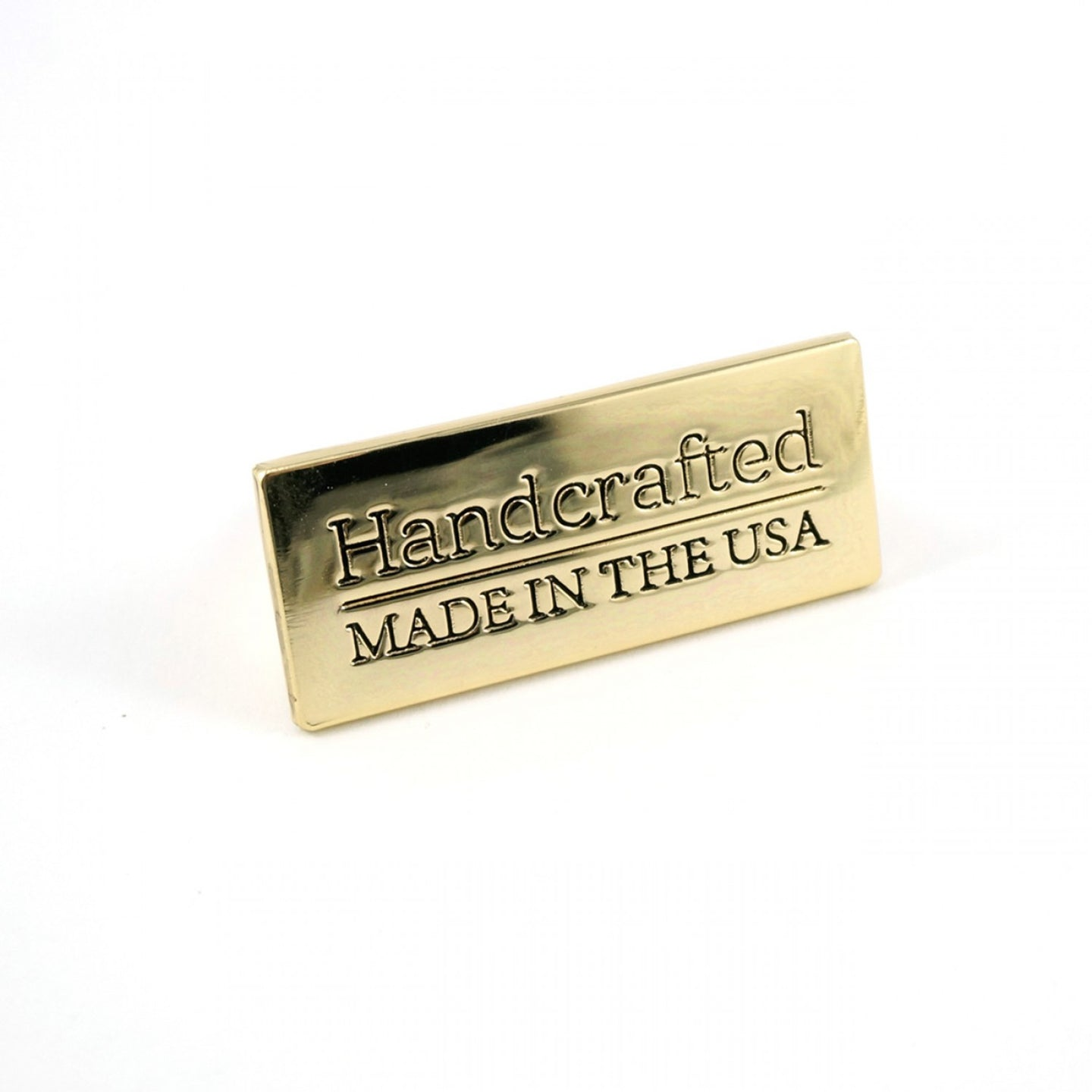 Metal Bag Label - Handcrafted | Made in the USA - Gold