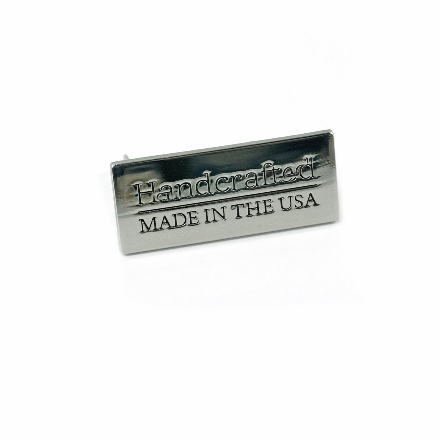 Metal Bag Label - Handcrafted | Made in the USA - Nickel/Silver