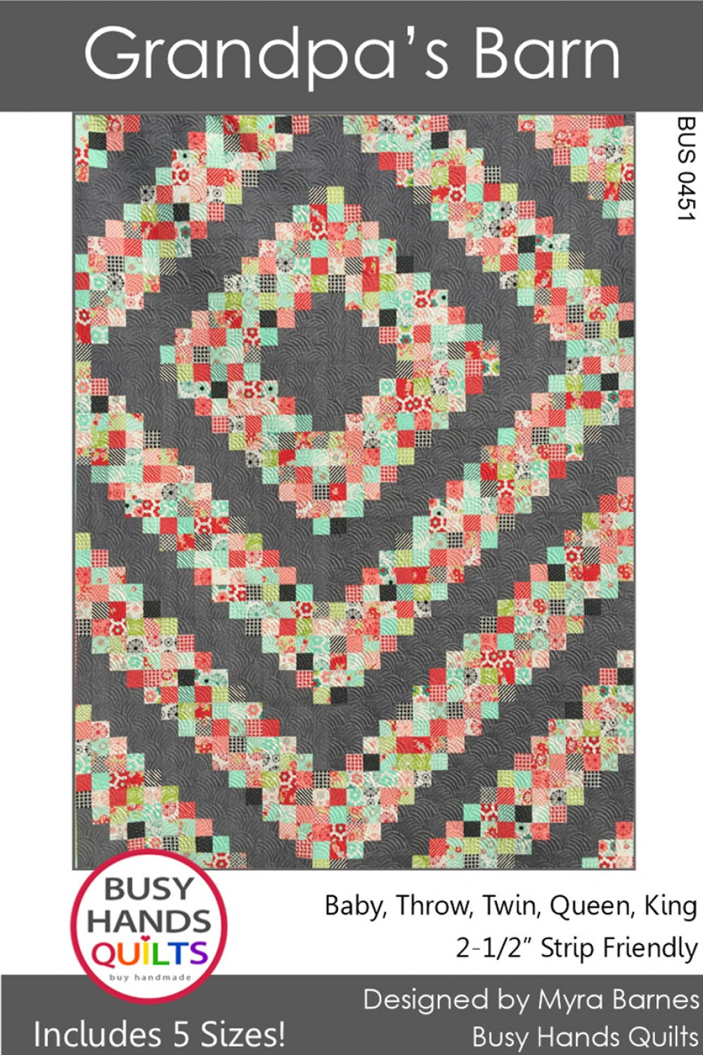 Grandpa's Barn by Busy Hands Quilts - PAPER Pattern