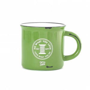 Happy Quilter Camp Mug - Lime