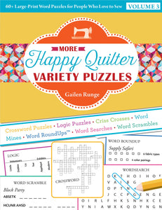 Happy Quilter Variety Puzzles - Volume 3