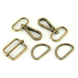 Basic Hardware Kit - 1 Inch - Antique Brass