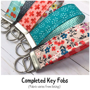 Key Fob Kit - 5 Pack - Rifle Paper Company Fabric